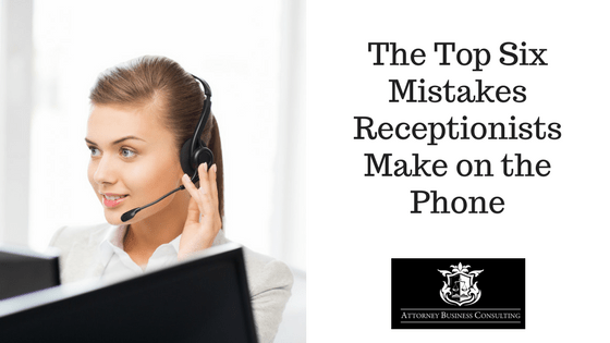 Receptionist Mistakes on the Phone